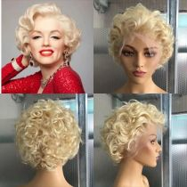 Youmi Human Virgin Hair Pre Plucked 613 Bob 13x6 Lace Front Wig For Black Woman Free Shipping (YM0191)