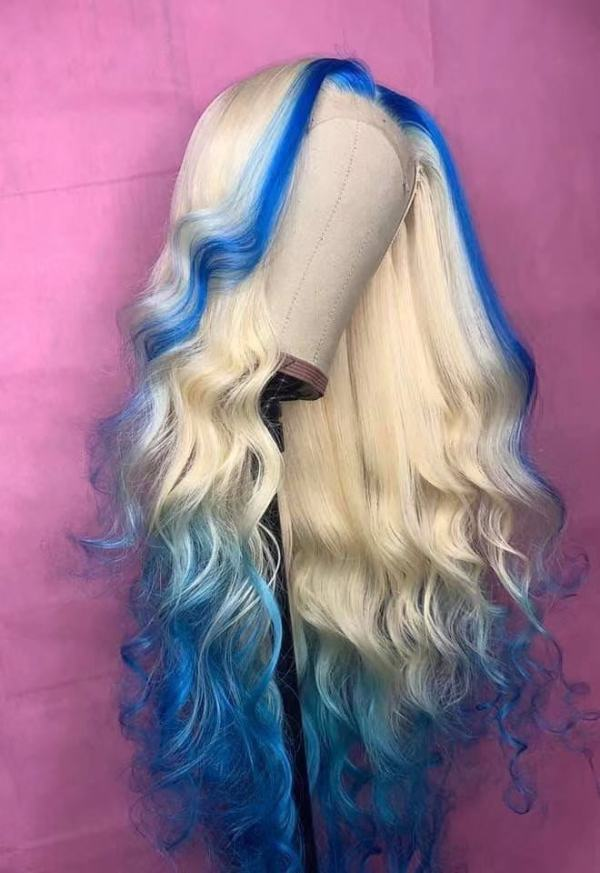 Youmi Human Virgin Hair Pre Plucked Ombre Lace Front Wig And 5x5 Full Lace Wig For Black Woman Free Shipping (YM0200)