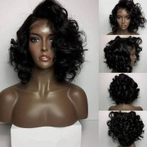 Youmi Human Virgin Hair Pre Plucked Lace Front Wig And 5x5Transparent Lace Wig For Black Woman Free Shipping (YM0199)