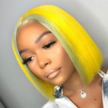 Youmi Human Virgin Hair Pre Plucked Ombre Bob Lace Front Wig And Full Lace Wig For Black Woman Free Shipping (YM0205)