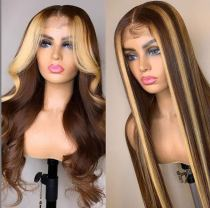 Youmi Human Virgin Hair Pre Plucked Ombre Lace Front Wig And 5x5Transparent Lace Wig For Black Woman Free Shipping (YM0210)