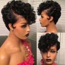 Youmi Human Virgin Hair Pre Plucked Curly Lace Front Wig And Full Lace Wig For Black Woman Free Shipping (YM0227)