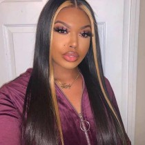 Youmi Human Unprocessed Human Virgin Pre Plucked Ombre Bob Lace Wigs and 5x5Transparent Lace wig(YM0014)