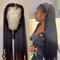 YouMi Human Virgin Hair Pre Plucked HD Swiss Lace Front Wig For Black Woman Free Shipping(YM0247)