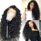 YouMi Human Virgin Hair Loose Curl Pre Plucked HD Swiss Lace Front Wig For Black Woman Free Shipping(YM0246)