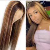 Youmi Human Virgin Hair Ombre Pre Plucked HD Swiss Lace Front Wig And Full Lace Wig For Black Woman Free Shipping (YM0244)