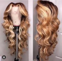 Youmi Human Virgin Hair Pre Plucked Ombre Lace Front Wig And 5x5Transparent Lace Wig For Black Woman Free Shipping (YM0250)