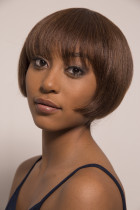 Youmi Human Virgin Hair Pre Plucked Full Machine Wig For Black Woman Free Shipping (ONNA)