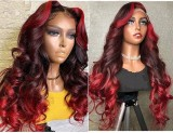 Youmi Human Virgin Hair Pre Plucked Ombre Lace Front Wig And 5x5Transparent Lace Wig For Black Woman Free Shipping (YM0252)