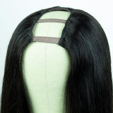 Youmi Human Virgin Hair Pre Plucked Straight U-part Wig For Black Woman Free Shipping (YM0256)