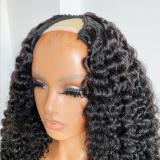 Youmi Human Virgin Hair Pre Plucked Straight U-part Wig For Black Woman Free Shipping (YM0257)