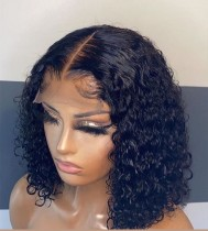 Youmi Human Virgin Hair Pre Plucked Curly Lace Front Wig And 5x5Transparent Lace Wig For Black Woman Free Shipping (YM0258)