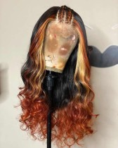 Youmi Human Virgin Hair Pre Plucked Ombre Lace Front Wig And Full Lace Wig For Black Woman Free Shipping (YM0260)