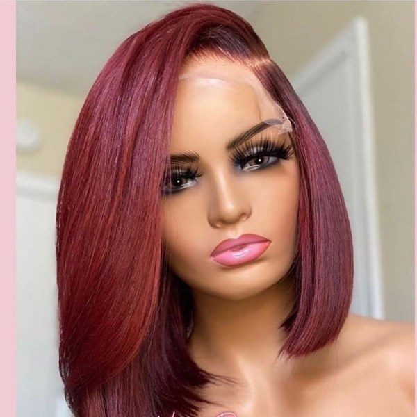Youmi Human Virgin Hair Pre Plucked Ombre Lace Front Wig And 5x5Transparent Lace Wig For Black Woman Free Shipping (YM0270)