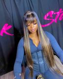 Youmi Human Virgin Hair Pre Plucked 13x6 Lace Front Wig And Full Lace Wig For Black Woman Free Shipping (YM0090)