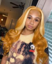Youmi Human Virgin Hair Pre Plucked Ombre 5x5 Lace Front Wig And Full Lace Wig For Black Woman Free Shipping (YM0106)