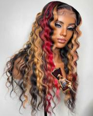 Youmi Human Virgin Hair Pre Plucked Ombre Lace Front Wig And 5x5 Lace Wig For Black Woman Free Shipping (YM0287)