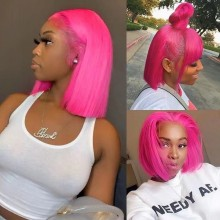 Youmi Human Virgin Hair Pre Plucked Ombre Bob Lace Front Wig And Full Lace Wig For Black Woman Free Shipping (YM0289)