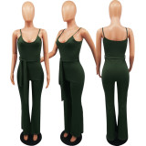 Solid Color Spaghetti Strap Slim Jumpsuit MTY-6160