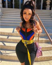 Black Strapless Women Romper LSL-6087