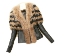 Plus Size Faux Fur Patchwork Short Jacket HHMY-322