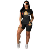 Casual Tracksuit Casual Sports Two Piece Shorts Set YN-9088