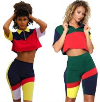 Colorful Short Sleeve Sport Suit LSL-6142