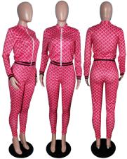 Plaid Print Jacket Tops And Pnats 2 Piece Set WSM-5027