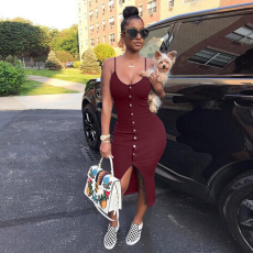 Women Sexy Slim Black Straps Package Hips Club Dress Plus Size OD-8037
