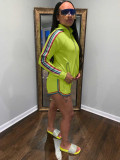 Casual Tracksuit Side Striped Long Sleeve Two Piece Set FNN-8290