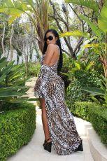 Leopard Print 2pcs Swimsuit Long Cloak+bodysuit OY-5321