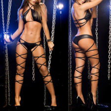 Hot Exotic Binding Halter Three-Point Sexy Lingerie YQ-877