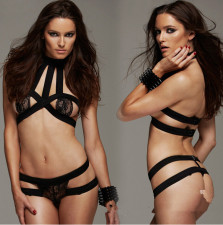 Black Exposed Chest Binding Lingerie  YQ-034