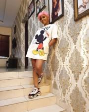Cute Mickey Mouse Print Short Sleeve T Shirt Dresses YNB-7004