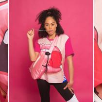 Fashion Lips Print Short Sleeve O Neck T Shirt MYP-8862