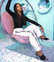 Fashion White Wide Leg Long Pants BGN-018