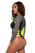 Sexy Mesh Patchwork One Piece Swimsuit LSL-6257
