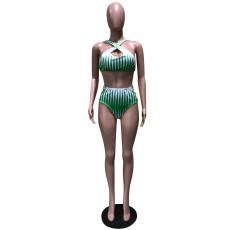 Sexy 3pcs Swimsuits Printed Long Cloak And Bikini Sets OD-8288