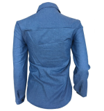 Casual Long Sleeve Denim Shirts ORY-5039