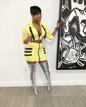 Casual Zipper Buckle Mini Skirt 2 Piece Sets LS-0261