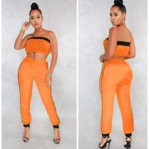 Casual Tube Tops Long Pants 2 Piece Set LS-0255