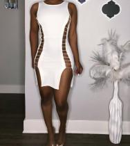 Sexy Tank Sleeve Hollow Split Party Dresses JH-082