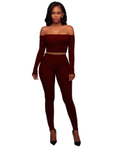 Sexy Off Shoulder Tight Pants Sets Two Pieces TE-3307
