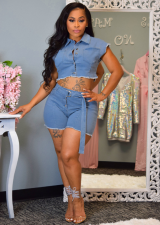 Fashion Denim Shorts Sets 2 Pieces SMR-9335