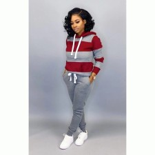 Casual Tracksuit Hoodies Long Pants Two Piece Sets MTY-6228