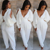 Sexy Deep V Neck Backless One Piece Jumpsuits YH-5099