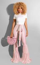 Fashion Striped High Waist Sashes Long Flared Pants BS-1125