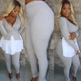 Casual Irregular Tops And Pants Two Piece Sets YH-5107