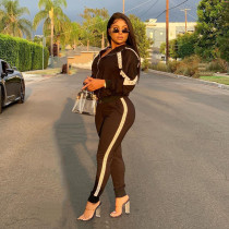 Casual Hooded Tracksuit Two Piece Sets YIM-8066