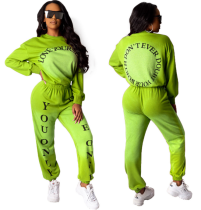 Letter Printed Women Two Pieces Sets HM-6173
